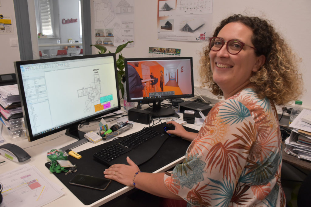 Adeline Cupi et la modélisation 3D.