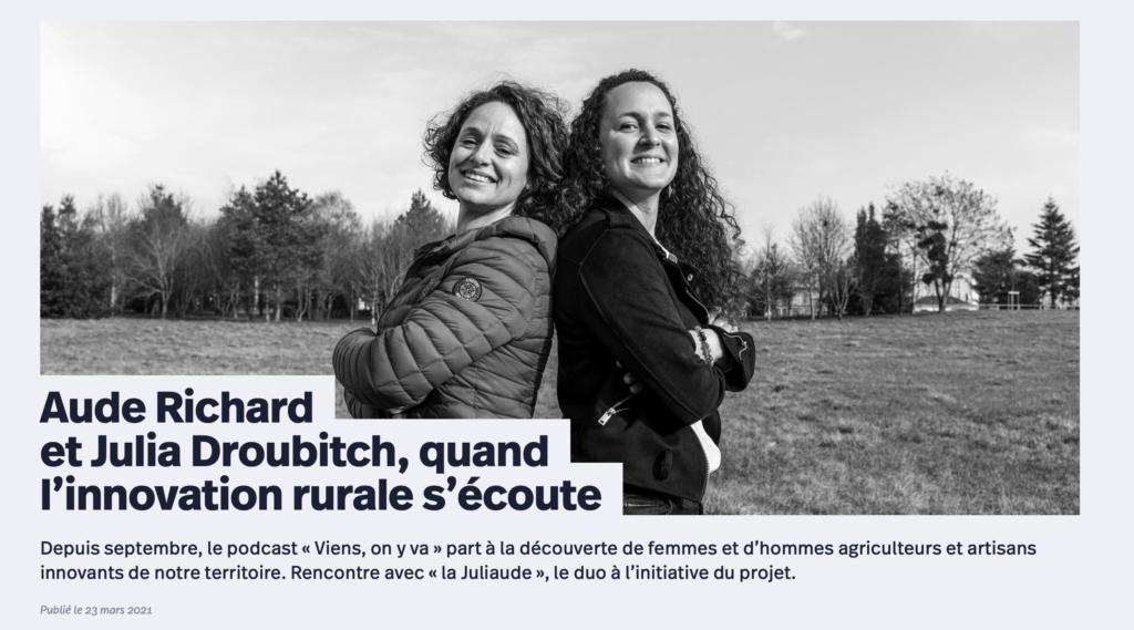Portait dans le magazine Blois Mag par Claire Seznec et une magnifique photo de Nicolas Wietrich