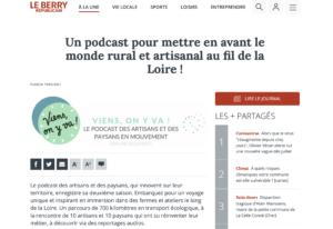 """Article dans le journal """"Le Berry Républicain"""""""