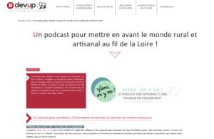Article sur le site DEVUP Centre-Val de Loire