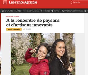 Article dans La France Agricole